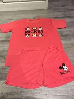 Brand New Mickey Tshirt/Shorts Set