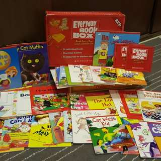 🌸Sold🌸Scholastic Everyday Book Box (Red Box)