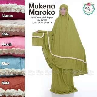 Mukena katun rayon maroko