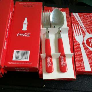 10 set Coca-cola cutlery set.(Fork & spoon)