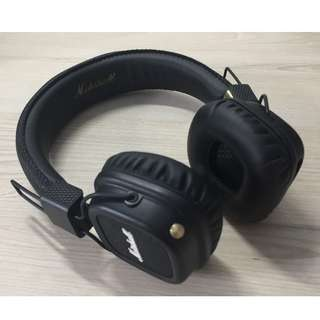 Marshall Major 2 wireless bluetooth headphone (black)