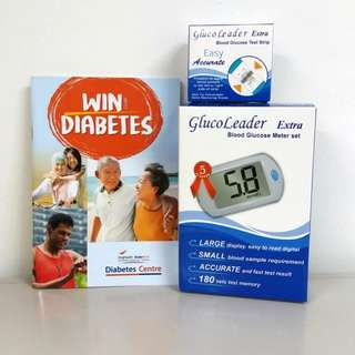 Diabetes Blood Glucose Meter Set with 50pc Test Strips (Free Delivery)