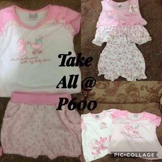 Take All Sanrio Hello Kitty Top and Shorts Ternos