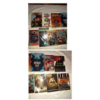 marvel hellblazer Batman dc superman comics manga bundle books