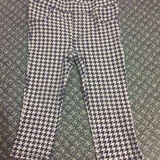 H & M Plaid Leggings/Pants 12-18mos