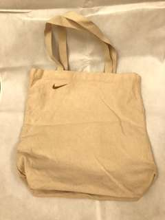 Nike golden small logo tote bag