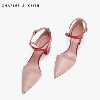 CHARLES&KEITH Criss Cross Pointed Heels (Pink w Box) UP:S$49.90