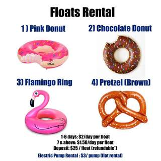Unicorn Donut Flamingo Pretzel Float Rental
