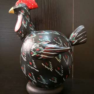 Rooster Wooden coin bank