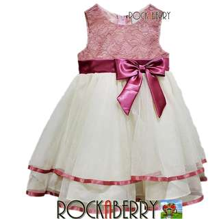 Rare Editions Lace to Tulle Girl's Special Occasion Dress