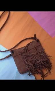 ruffle leather bag