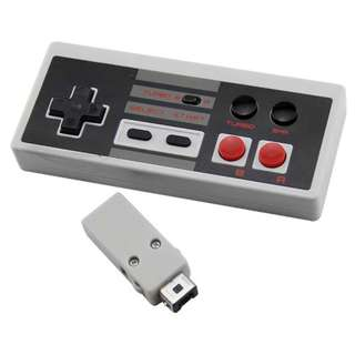 ARRKEO 2.4GHz USB Retro Rechargeable Wireless Mini Turbo Controller Gamepad With Turbo Button For NES Classic Edition Console -- 673