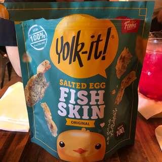 Yolk it salted egg fish skin