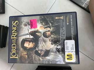 Lord of ring dvd