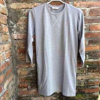Grey Mini Dress by Cottonink