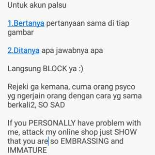 Akun penipu, be SMART