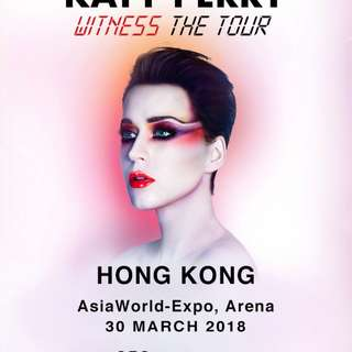 Katy Perry WITNESS: The Tour - March 30 2018 - Standing Tickets