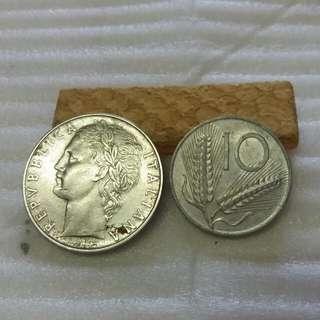 2Pcs Italiana Old Coin