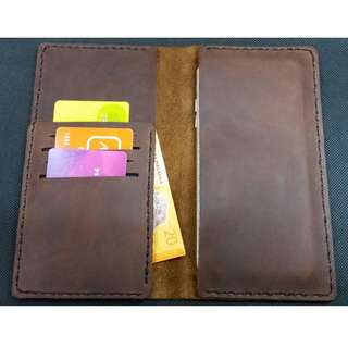 IPhone & Android phone case Leather Handmade wallet