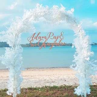 Wedding decor beach outdoor wedding walkin fairylights with arch