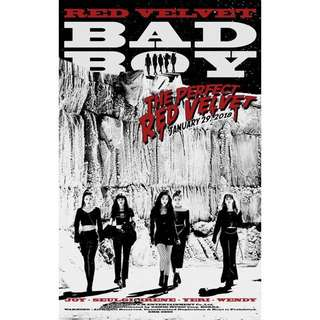 red velvet bad boy poster!!