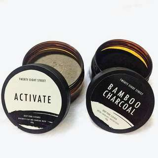 Bamboo and activate charcoal