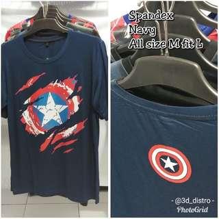 Kaos 3DD Superhero Captain America