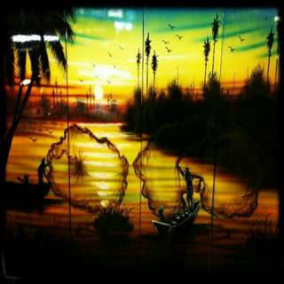 Sunrise Lacquer Painting