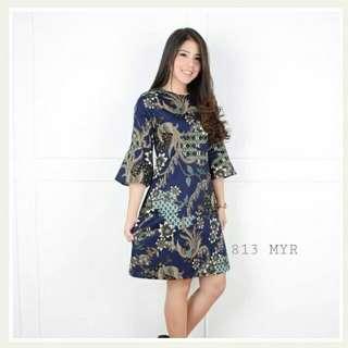 Myria Dress Batik Cewek Fit to L