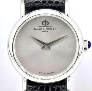 Baume & Mercier (18K White Gold) Classic Lady Watch (FULLSET - Original Box & Warranty Card)