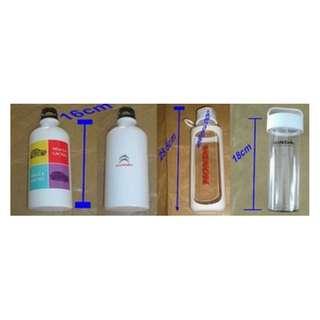 2 Pcs Citroen Aluminium Water Bottle + 4 Honda Motor Water Bottle - New