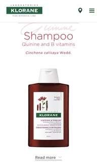 Klorane : Shampoo Quinine and B vitamins Cinchona calisaya Wedd