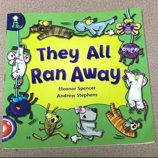 'They all ran away' story book for sale!