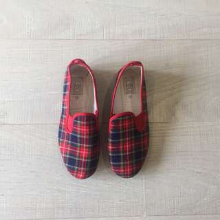 Flossy Red Checkered Shoes