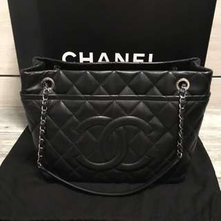 Chanel timeless CC shopping tote