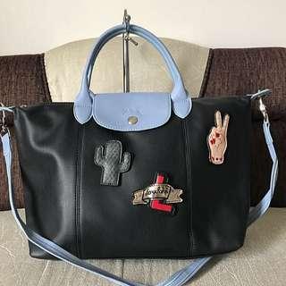 SALE! Longchamp Bonbon Black w/Blue (Limited Edition)