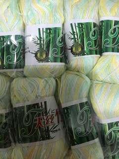 Mix colour bamboo yarn