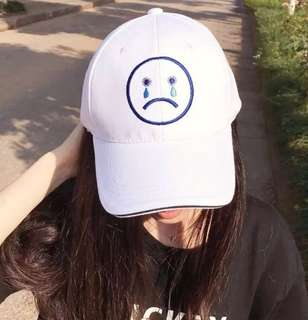 instocks tumblr uzzlang sad face cap