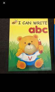 原$28 幼兒英文字母書:I can write abc
