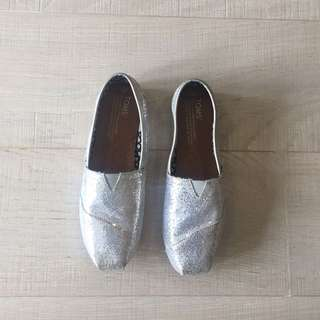 Toms Silver Shoes