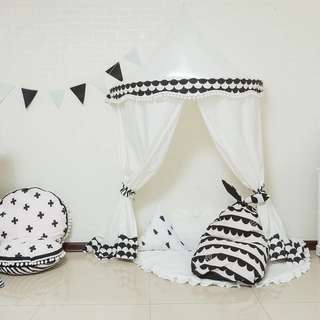Scandinavian Kids Canopy with Curtain!
