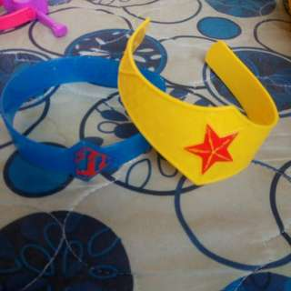 wonder woman and supergirl headband