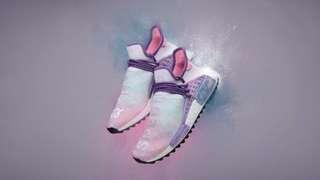 "Authentic Adidas x Pharrell Williams HU NMD ""Holi Powder Dye"" Pink Glow UK6.5 / US7"