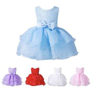 [PRE-ORDER] BABY KIDS GIRLS WEDDING BIRTHDAY PAGEANT CUSTOM PARTY FLOWER DRESS