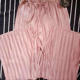 Celana dan rok kulot plisket import korea and china