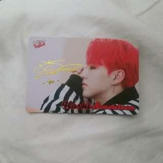 Seventeen Hoshi yes card