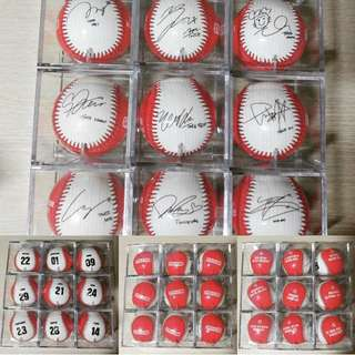 TWICE STRIKEZONE PRINTED AUTOGRAPH BASEBALL