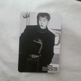 Block B Zico yes card