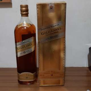 Johnnie walker Gold label 18yo 1000ml  舊版