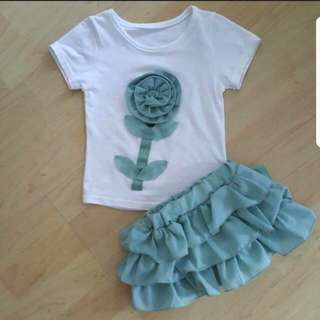 Top with tutu skirt [Size : 8]